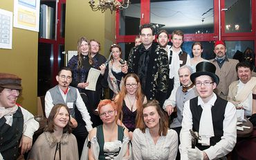 Gruppenbild Private-Mystery Night in Berlin. Feb. 2016